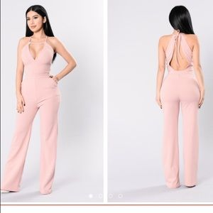 Fashion Nova well dressed jumpsuit in pink